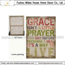 High Quality Handmade Linen Painting