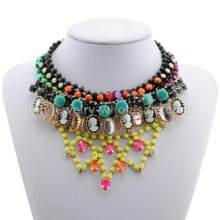 Cap Shape Acrylic Resin Beads Colorful Charms Antique Party Necklace