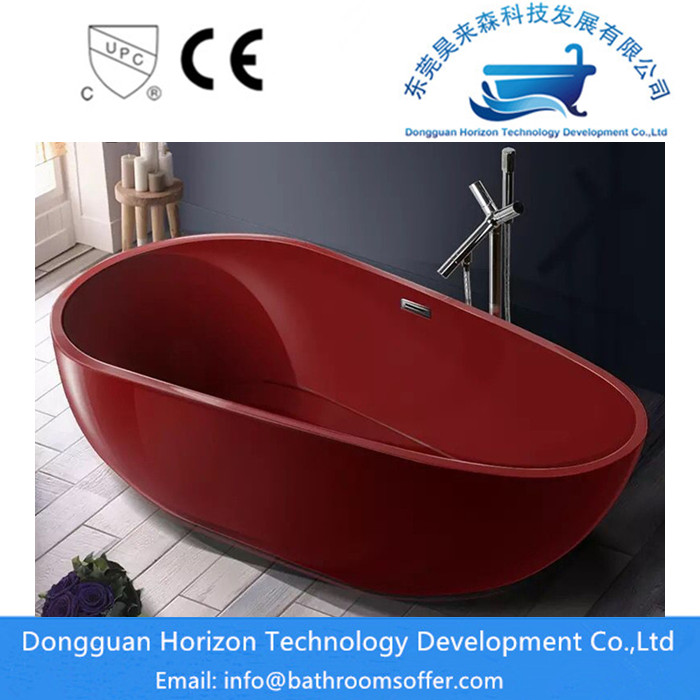 Dark Red Bathtub