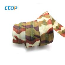 wholesale new design fancy colorful nylon elastic zipper