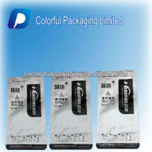 Saco de pó de carbono personalizado folha de alumínio com entalhe rasgo