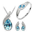 925 Silver Pendants and Earrings Jewelry Set with CZ