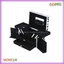Tamanho médio cosméticos organizador zebra padrão maquiagem caixas (saccam136)