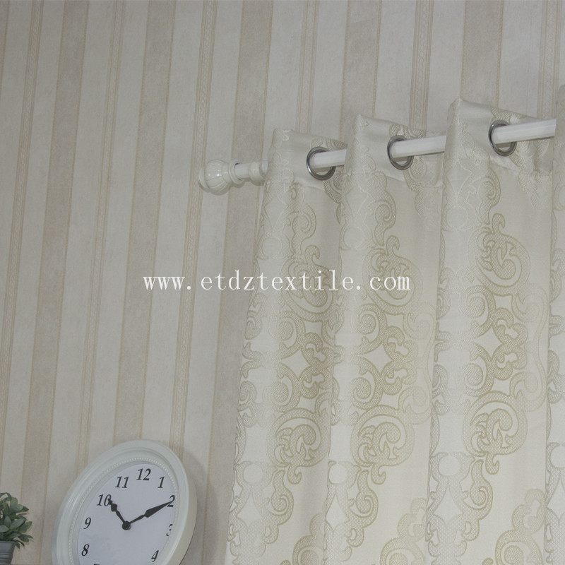Embroidery Jacquard Curtain Fabric GF024