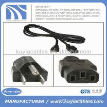 3 Prong AC PC de bureau Câble d'alimentation pour Dell Sony IBM