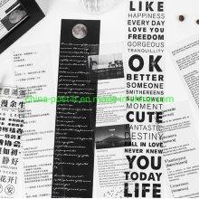White Black Deisgn Release Pet Masking Tape Decorating Stripe Sticker