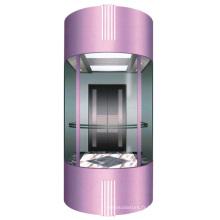180 degrés Semicircle Glass Sightseeing Passenger Elevator