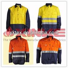 Prova de mosquito de algodão camisa de mineração para trabalhadores da indústria Prova de mosquito de algodão camisa de mineração para trabalhadores da indústria