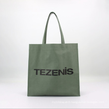 Hot Selling Large Custom Waxed Cotton Canvas Waterproof Women Shopping Tote Bag