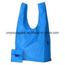 Blue Custom Reusable Waterproof Nylon Foldable Bags for Shopping