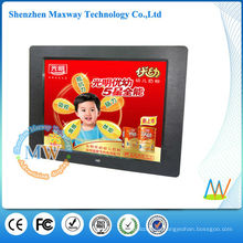 LED backlit 12 inch desktop digital photo frame video