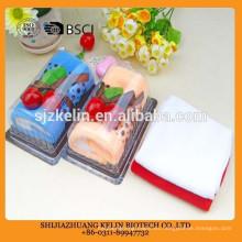 Toalla colorida de la torta de la mano para las bodas Toalla de la torta / toalla del regalo / toalla de la cara / toalla de playa / toalla de mano;