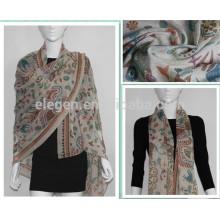Polyester animal printing long big shawl scarf