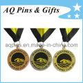 Medalhas de liga de zinco com esmalte macio para natação Club