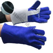 NMSAFETY blue cow split leather welder glove