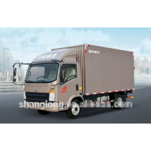 3-10ton Light Duty 4X2 HOWO Mini Box Truck