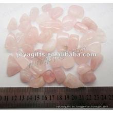 Cuarzo rosa piedra caído, alto brillo