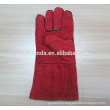 14 inches cow split leather welding gloves AB grade with kelvar thread