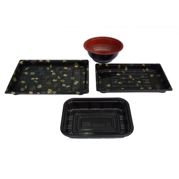 Square Black PS Sushi Container