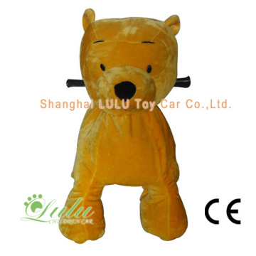 Yellow Bear Animal Rider Coin Operated Machine