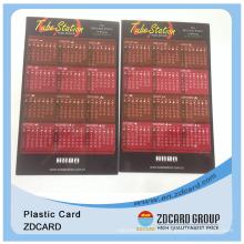 Calendar Card/PVC Printing Calendar Card