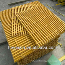 Ortho Material 38*38mm mesh size fiber reinforced plastic molded grating with thicker bar