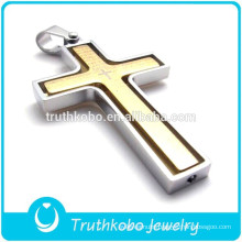 Premier Designs Jewelry 14K Gold IP Plating Stainless Steel Lords Prayer Laser Cut High-end Cross Pendant for Necklace Jewelry
