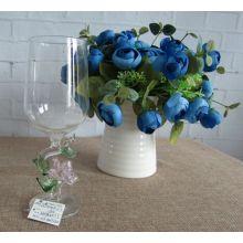Copo de vidro de cálice de borosilicato para decoração do casamento