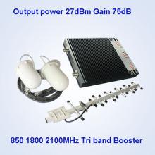 850MHz Dcs 1800 Lte 3G 2100MHz Amplificador de la señal del teléfono móvil Extensor de la señal de la red GSM900MHz del amplificador de la señal, repetidor de la señal del G / M