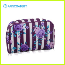 Flower Printed Satin Cosmetic Women′s Clutch Bag Rbc-054