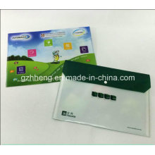 OEM couleur imprimé A4 Document fichier dossier plastique sac avec bouton pression