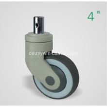 4 Zoll Solid Stem Swivel TPR PP Material medizinische Caster