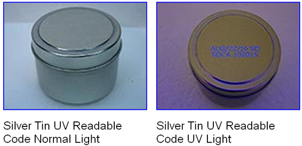 UV DOD inkjet coder sample