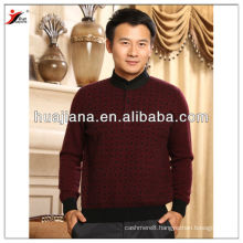 fashion collar antipilling cashmere man's sweater