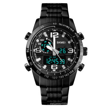 Jam tangan pria luxury stainless steel analog wrist watch analog and digital watch for men