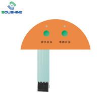 Interruptor de membrana de control de luz indicadora de energía de música