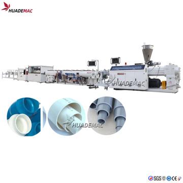 Linha de produção de tubo de pvc de duas cavidades de plástico