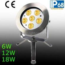 IP68 6W 12W 18W светодиодный подводный свет пятно