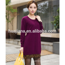 2014 autum women's cashmere printing dress