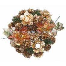 Bouchon de bougeoir décoratif en sapin de pin