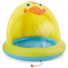 Jeu d'enfant d'arroseur de piscine pour bébé canard jaune