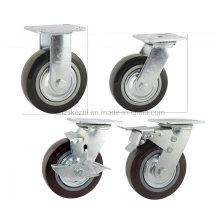 Rouleau en PU à frein à pédale à double pédale de type lourd (KHX3-H1-A)