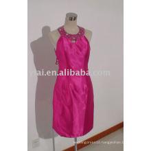 YA0034 2015 New Fashion Halter Pink Knee Length Short Prom Dresses
