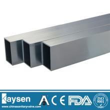 Tubo rectangular de acero inoxidable ASTM A554