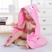 Serviette de bain pour bébé animal bébé à capuchon wrap en rose serviette extra douce serviette organique pour nouveau-né