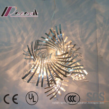Design exclusivo torcido Art ferro corte luminária