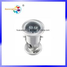 Lumière sous-marine de l'acier inoxydable 6W LED