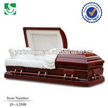Mettez en surbrillance le cercueil de bonne qualité intérieur blanc rouge