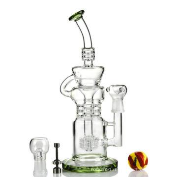 Triple Ratchet Perc Klein Incycler Hookah Glas Smokingpipe (ES-GB-398)