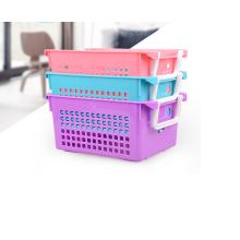 Оптовая ЭКО-дружественных высокое качество многоразовые пластиковые корзина для хранения с ручкой